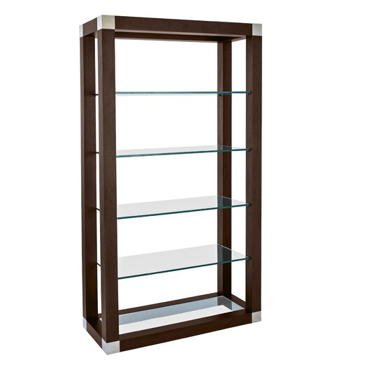 "Allan Copley Designs Calligraphy Wall 78"" Accent Shelves Bookcase"