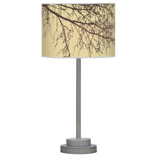 """Jef Designs Organic Modern Branch Stem 24"""" H Table Lamp with Drum Shade"""