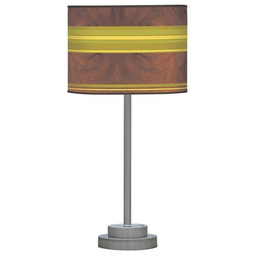 "Jef Designs Organic Modern Horizontal Stripes One Stem 24"" H Table Lamp with Drum Shade"