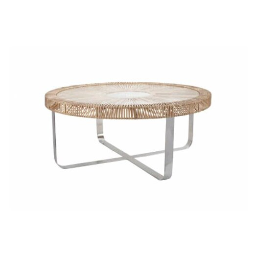 Lazy Susan Split Rattan Coffee Table Allmodern