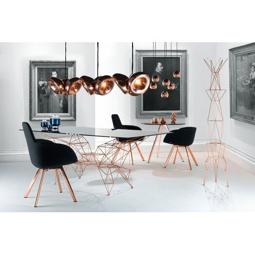 Tom Dixon Scoop Side Chair Low with Wooden Legs
