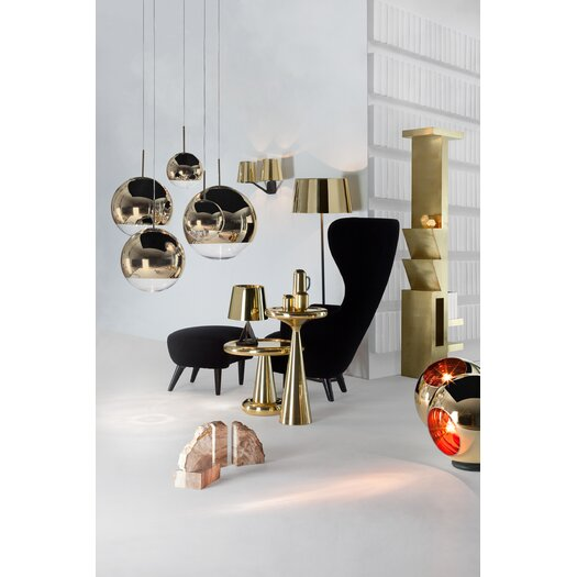 tom dixon mirror ball 1 light globe pendant allmodern. Black Bedroom Furniture Sets. Home Design Ideas