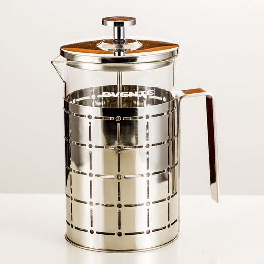 ovente stainless steel french press coffee maker allmodern. Black Bedroom Furniture Sets. Home Design Ideas