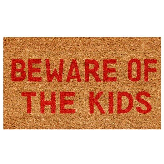 Home & More Beware of the Kids Doormat