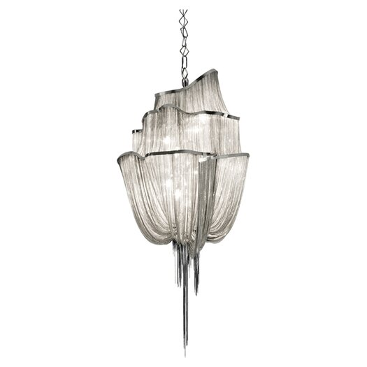 Terzani Atlantis 3 Tier 6 Light Crystal Chandelier