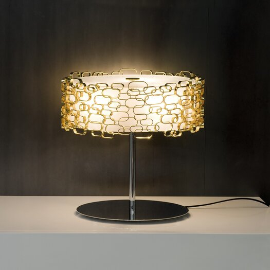 "Terzani Glamour 17.8"" H Table Lamp with Drum Shade"