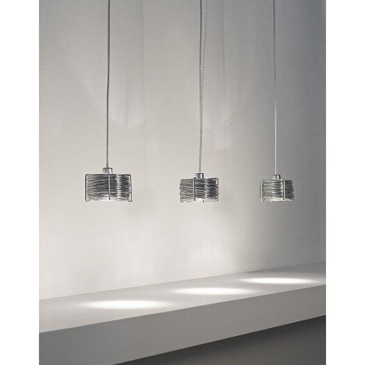 Terzani Bobino Three Light Pendant with Metal Diffuser