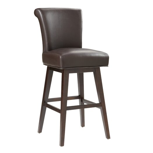 "Sunpan Modern 5West Hamlett 30"" Swivel Bar Stool with Cushion"