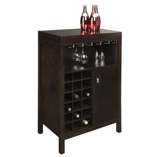 Sunpan Modern Ikon Philmore Bar with Wine Storage