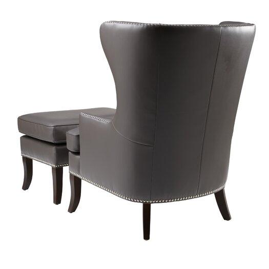 Sunpan Modern Royalton Chair and Ottoman