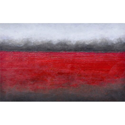 Sunpan Modern Ikon Red Horizon Painting Print