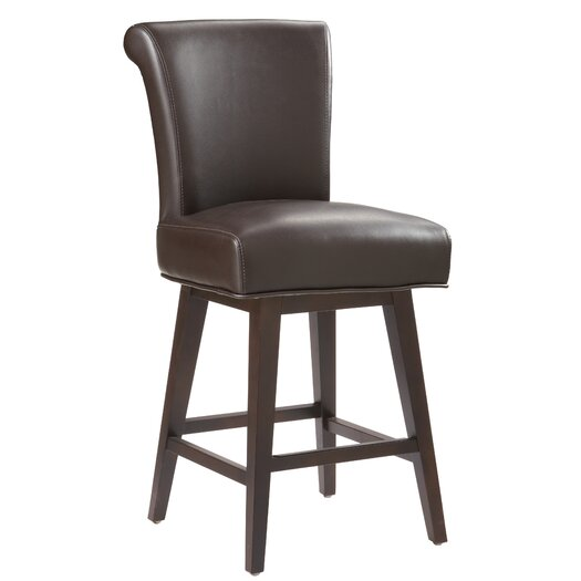 "Sunpan Modern 5West Hamlett 26"" Swivel Bar Stool with Cushion"