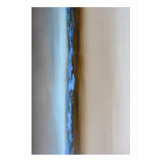 Sunpan Modern Ikon Blue Mist Painting Print