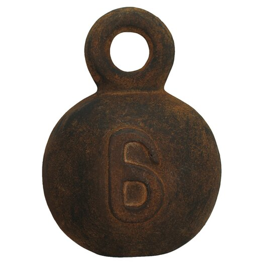 Vita V Home Decorative Fishing Weight Number 6 Décor Sculpture