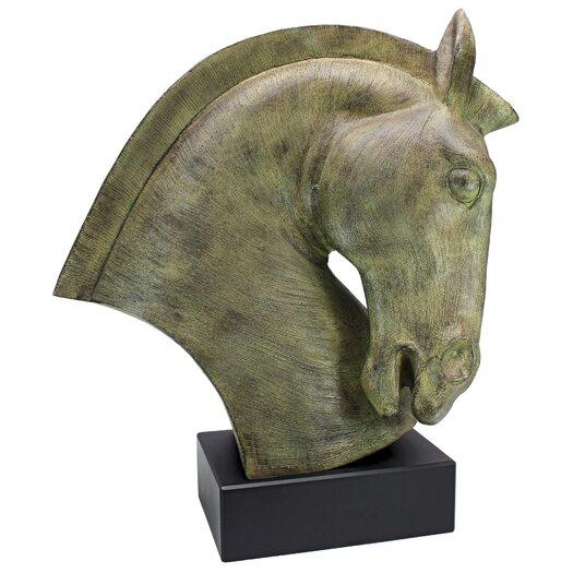 Vita V Home Modern Resin Tree Horse Bust