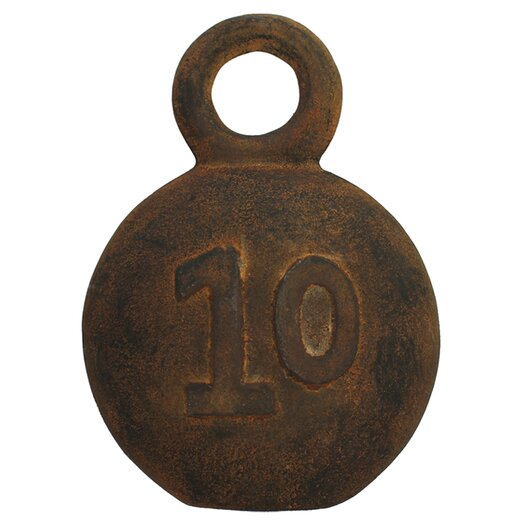 Vita V Home Decorative Fishing Weight Number 10 Sculpture