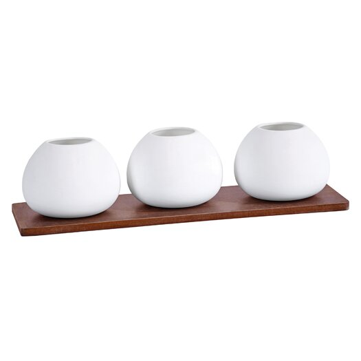 Vita V Home Hotah Multi Orb 4 Piece Vase on Base Set