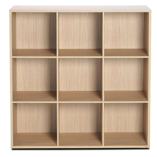 """Bestar Clic Furniture 3 Row and 3 Column Thick Framed Open Cabinet 42.74"""" Cube Unit"""