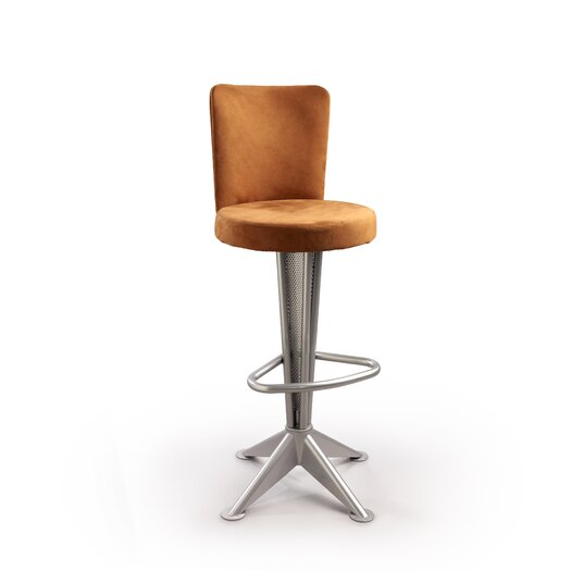 "Createch Bill 30"" Swivel Bar Stool with Cushion"