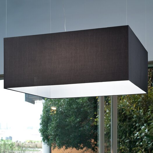 Masiero Tessuti Square 6 Light Kitchen Island Pendant