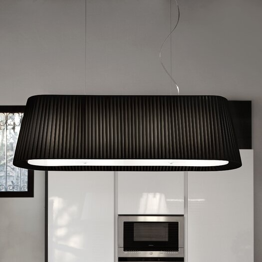 Masiero Tessuti Oval 5 Light Large Kitchen Island Pendant