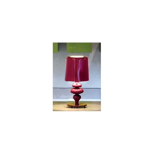 """Masiero Eva Small 11.1"""" H Table Lamp with Drum Shade"""