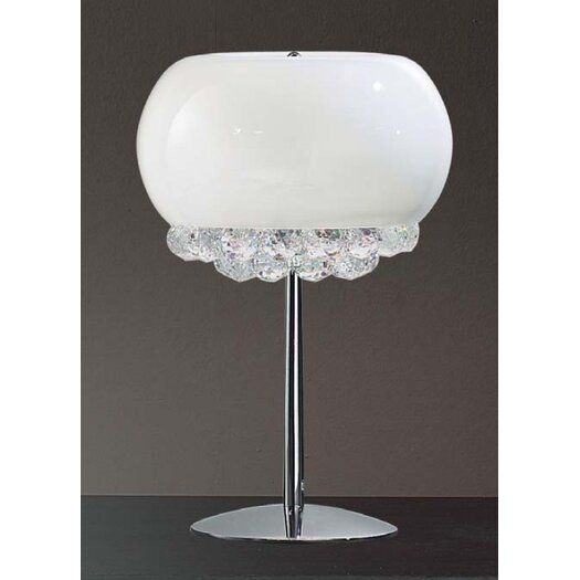 """Masiero Mir 17.7"""" H Table Lamp with Globe Shade"""