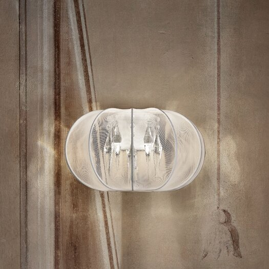 Masiero Tessuti Sphere 2 Light Wall Sconce