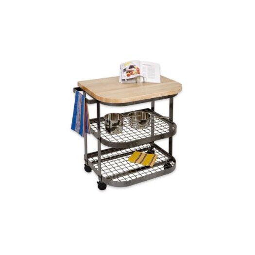 Enclume Premier Kitchen Cart with Wood Top