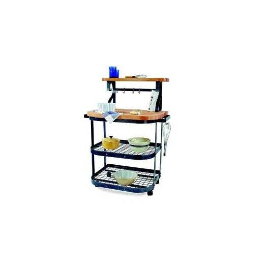 Enclume Premier Kitchen Cart with Butcher Block Top