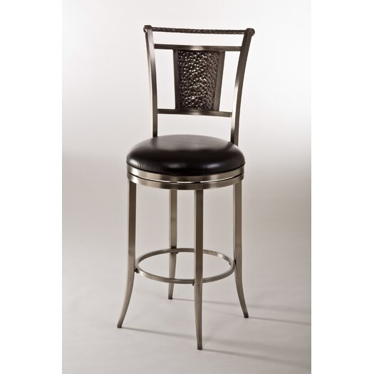 "Hillsdale Furniture Parkside 26"" Swivel Bar Stool with Cushion"