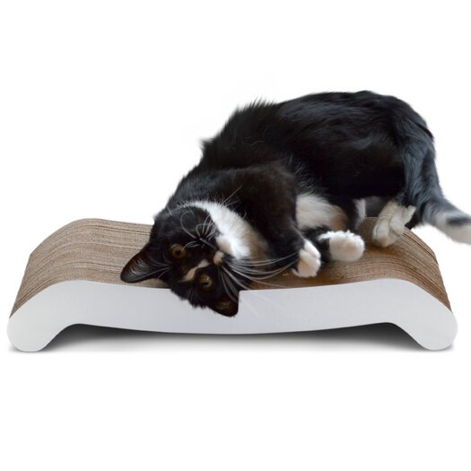 Petfusion reversible curve cat scratcher allmodern for Curved cat scratcher