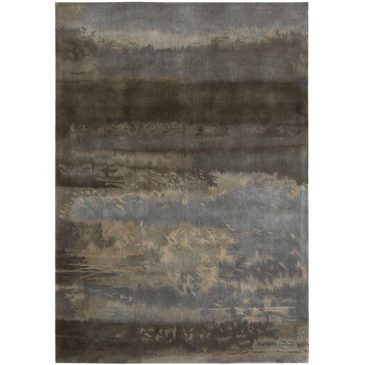 Calvin Klein Home Rug Collection Luster Wash Gray & Blue Slate Scene Area Rug
