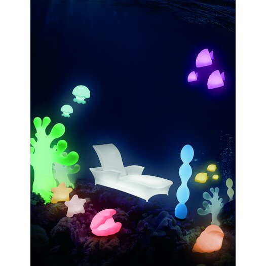 """100 Essentials Ocean Jelly Jish 11.81"""" H Table Lamp with Novelty Shade"""