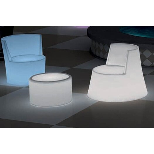 100 Essentials Simple Illuminated Leisure Chair with Cushion