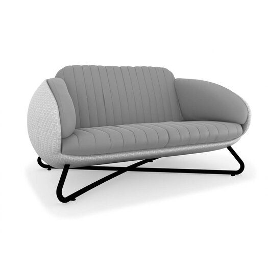 100 Essentials Circle Loveseat with Cushions