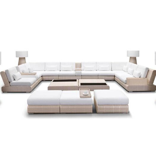 100 Essentials Sumba 16 Piece Sectional Seating Group