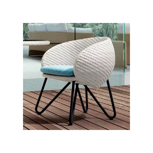 100 Essentials Circle Dining Arm Chair with Cushion