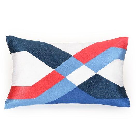 Trina Turk Residential Coastal Ikat Decorative Cotton Lumbar Pillow