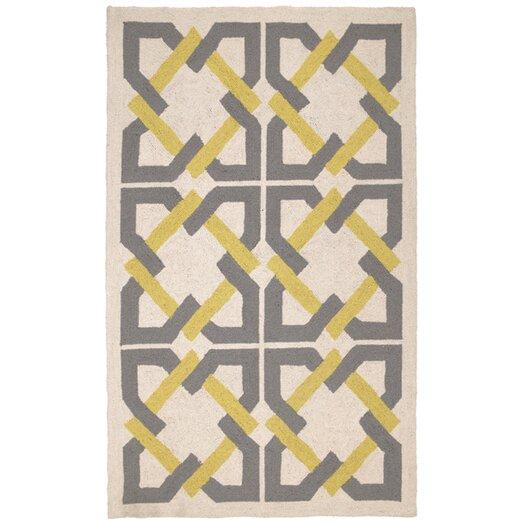 Trina Turk Residential Geometric Tile Yellow/Grey Area Rug