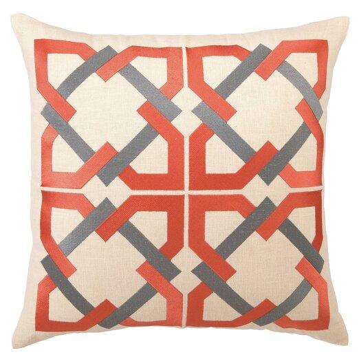 Trina Turk Residential Geometric Tile Linen Throw Pillow