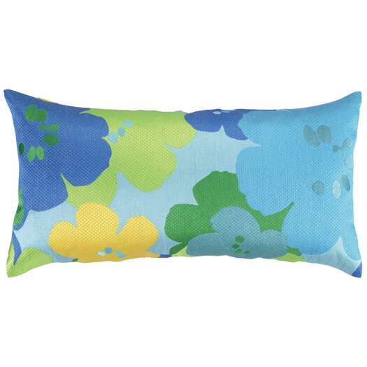 Trina Turk Residential Floral Linen Lumbar Pillow