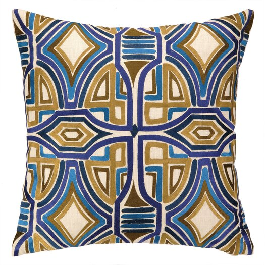 Trina Turk Residential Del Mar Embroidered Linen Throw Pillow