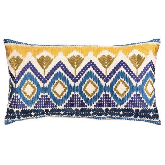 Trina Turk Residential Anza Embroidered Linen Lumbar Pillow