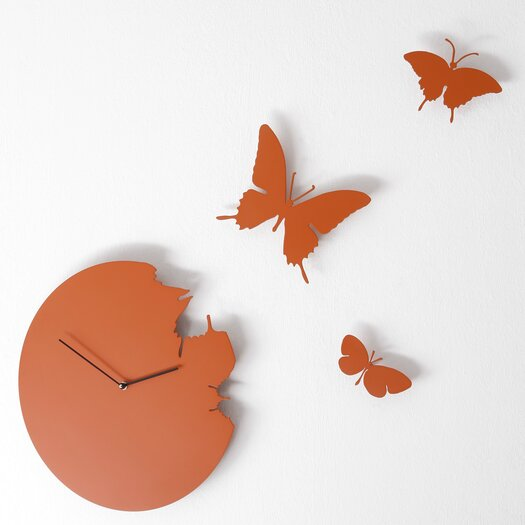 Butterfly Wall Clock (Colors available)