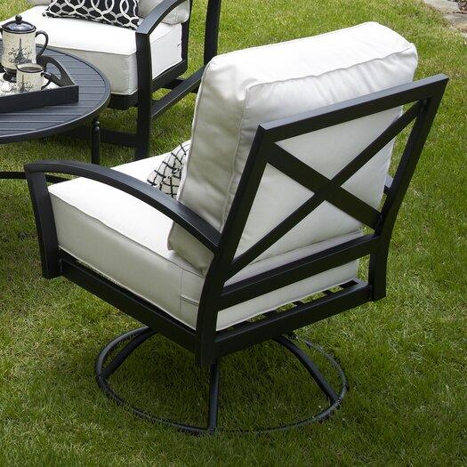 Meadowcraft Maddux Swivel Rocking Chair with Cushion