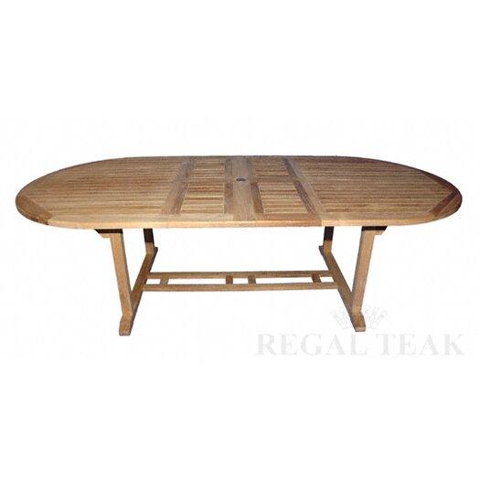 Regal Teak Double Extension Dining Table