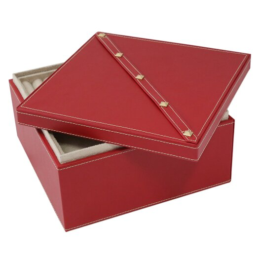 Bey berk 2 level studded jewelry box allmodern for Bey berk jewelry box
