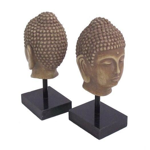 Bey-Berk Buddha Marble Base Book Ends