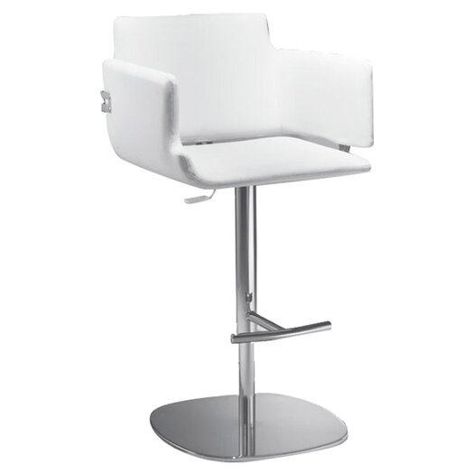 Arka Adjustable Height Bar Stool with Cushion